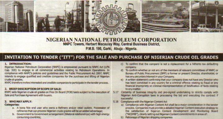 Tender Moment for Oil Sale Governance in Nigeria | Natural