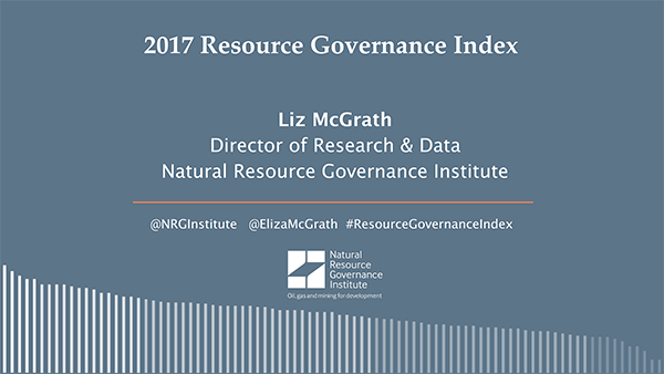 Natural Resource Governance Institute London